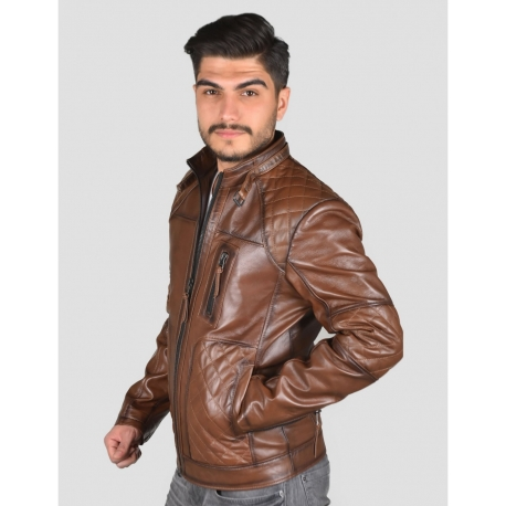Garbi Mens Shade Brown Mens Quilted Jacket