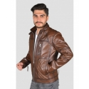Garbi Mens Shade Brown Quilted Jacket