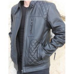 Garbi Mens Black Quilted Jacket