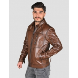 Theroux Shade Brown Mens Leather Jacket