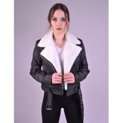 Jaime Shearling Leather Biker Jacket