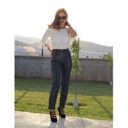 Levi Charcoal Leather Jeans