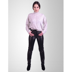 Levi Womens Black Leather Jeans