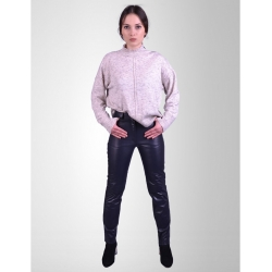 Levi Womens Navy Leather Jeans
