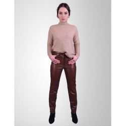 Levi Womens Antique Brown Leather Jeans