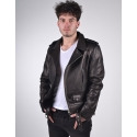 Eclipse Mens Classic Biker Black Merino Leather Jacket
