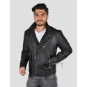 Echo black leather jacket