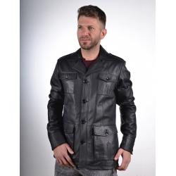 Harrison black leather jacket