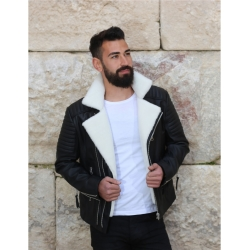 James Dean white shearling jacket sh
