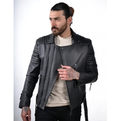 Marlon black leather jacket bh
